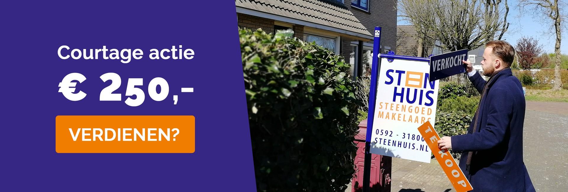 Huis verkopen? Profiteer tot 1 mei nog van onze courtage actie en ontvang €250,-